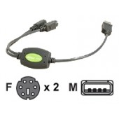 IOGEAR GUC10KM - keyboard / mouse adapter - 1 ft