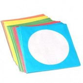 100-Piece Multi Color Paper CD Sleeves with Window