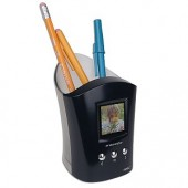 "1.5"" LCD Royal 24950V PF Memory Cup Digital Photo Frame Pencil Cup/Desktop Organizer"