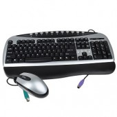 2-in-1 PS/2 Multimedia Keyboard &amp; Optical Mouse Kit (Silver/Black)