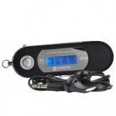 "Centon moVex 8GB USB 2.0 MP3 Digital Music Player & Voice Recorder w/1.1"" Color Changing LCD (Black)"