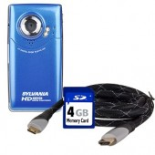 Sylvania HD1Z 720p HD Pocket Video Digital Camera/Camcorder Kit w/4GB SD Card & HDMI Cable