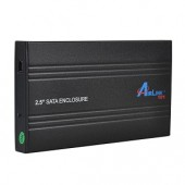 "AirLink101 AEN-U25SAB 2.5"" USB 2.0 Aluminum External SATA HDD Enclosure (Black) - Supports up to 750GB"