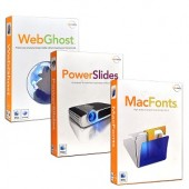 Macware Multimedia & Privacy Software Bundle For Mac OS X - Includes PowerSlides MacFonts & WebGhost Privacy!