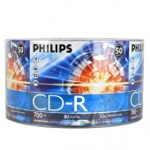 Philips 52x 700MB 80-Minute CD-R Media 50-Piece Pack