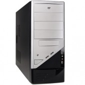 Logisys CS-206SLBK 10-Bay ATX Computer Case w/480W 20+4-pin PSU (Silver/Black)
