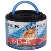 Philips 16x 4.7GB 120-Minute DVD+R Media 50-Piece Spindle
