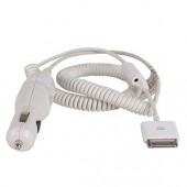 Belkin F8V7067-APL 12V Car Power Adapter for iPod (White) - Charge Your iPod on the Road!