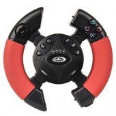 Intec G7783 Wireless Racing Wheel for Sony PlayStation 3 (Red/Black)