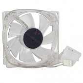 "3"" x 3"" (80mm) 4-Green LED Case Fan w/3-Pin & 4-Pin Connector (Clear)"