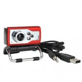 iMicro IMC027 5MP (Interpolated) USB 2.0 Webcam w/Built-in Microphone 3 LEDs & LCD Clip-On - Video Chat in Low Light!