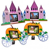 "3.5"" Nextar N3-504 320x240 Digital Photo Frame 4-Pack (Pink Castle & Pumpkin Carriage)"