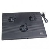 Notebook Cooler Pad w/3 60mm Fans (Black)