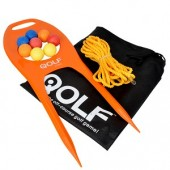 QOLF Chip Shot Practice Starter Set: The Off-Course Golf Game! Have Fun While Sharpening Your Short Game!