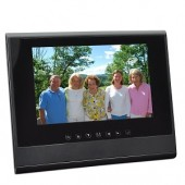 "7"" RZDF-107U 1GB 800x480 Digital Photo Frame (Black) - Also Use As A Secondary LCD Monitor!"
