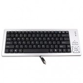 85-Key USB Mini Keyboard (Silver/Black)