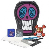 Mad Catz Skellramics Skull Pak w/Skull Case Game Cases Screen Protectors Styli & Skull Charm for Nintendo DSi/DS Lite