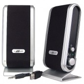 iMicro SP-IMD168B 2-Piece USB Powered Multimedia Speaker Set (Black/Silver)