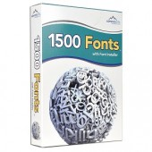 Summitsoft 1500 Fonts Software w/Font Installer - High Quality TrueType Fonts!