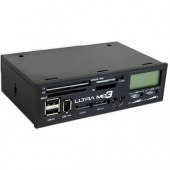 "5.25"" Ultra MD3 Media Dashboard w/Card Reader USB 2.0/IEEE 1394a/eSATA Fan Control & LCD Display"