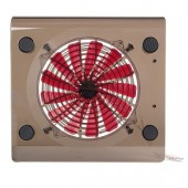 Notebook Cooler Pad w/1 184mm Silent Fan (Clear Black)